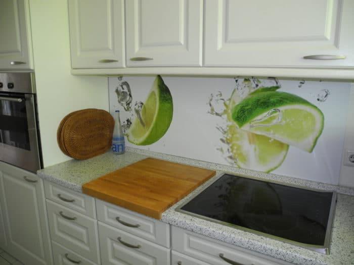 panel szklany limonka