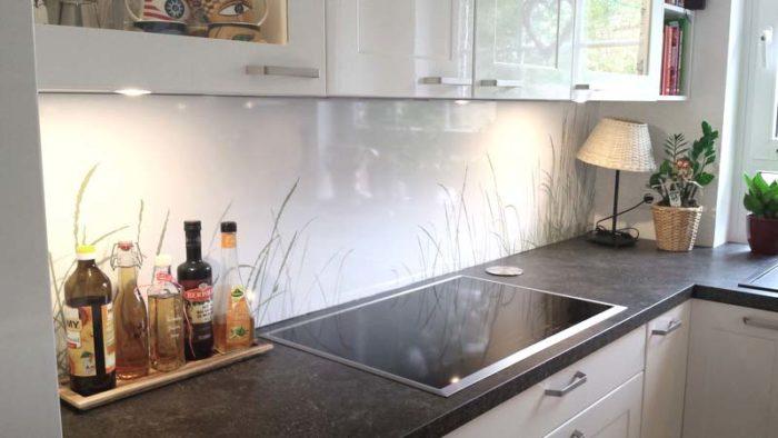 panel szklany trawy