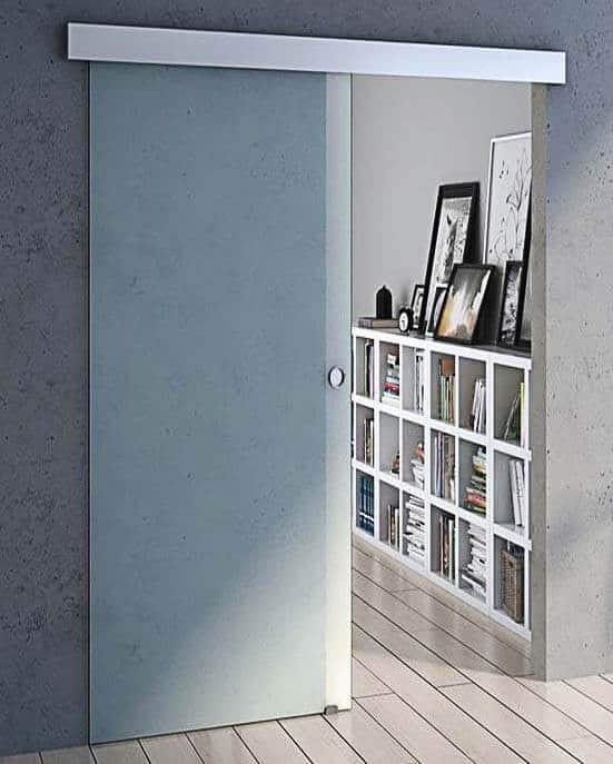 System przesuwny do drzwi szklanych ze spowalniaczami