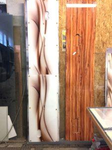 panel szklany motyw drewniany